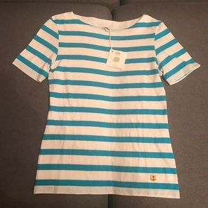 NWT Armor Lux Blue and White French Shirt